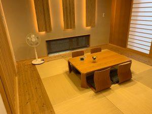 高砂建設のモデルハウスの和室