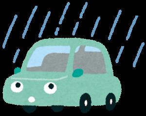 雨ざらしの車