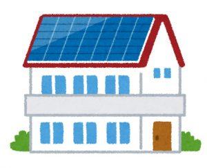 ソーラーパネルの乗った家