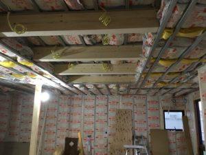 shawoodの工事中の天井