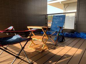 インナーバルコニーとキャンプ道具