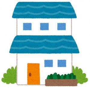 二階建ての住宅のイラスト