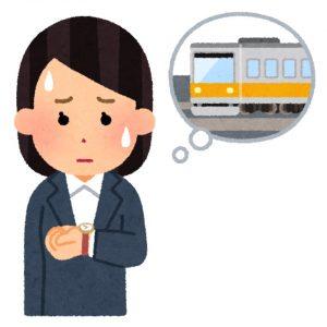通勤時間を気にする人のイラスト