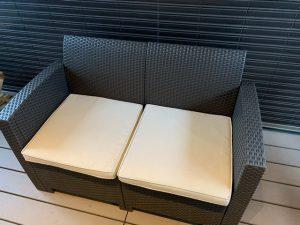 バルコニーのソファ