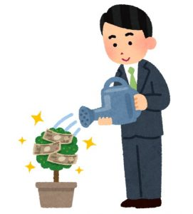 お金を育てる人のイラスト