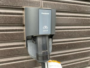 PanasonicのEV充電設備の写真