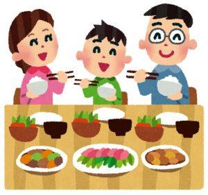 家族団欒での食事
