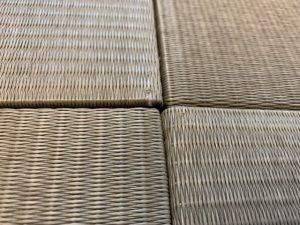 樹脂畳の境目の写真