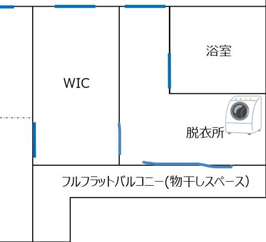 洗濯導線の図面